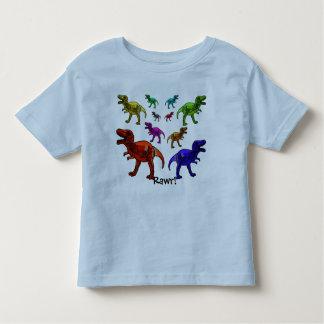 Kleurrijke Dinosaurus Rawr! T-shirt