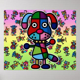 kleurrijke dog2 poster