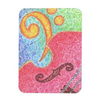 Kleurrijke Dubbele Baarzen en Sleutel - Magneet