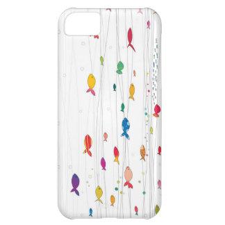 kleurrijke fishies iPhone 5C hoesje