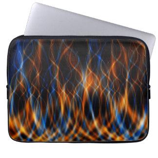 Kleurrijke Fractal Vlammen Computer Sleeve