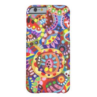 Kleurrijke Funky iPhone 6 van de Kunst geval Barely There iPhone 6 Case