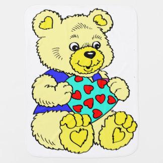 Kleurrijke Gele Teddybeer Inbakerdoek