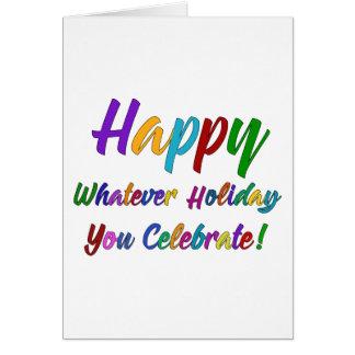 Kleurrijke Gelukkig de Vakantie u viert! Briefkaarten 0