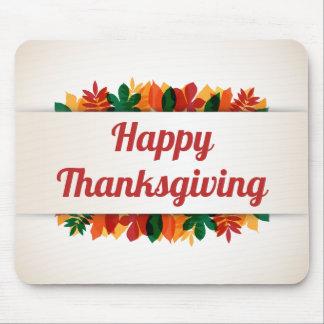 Kleurrijke Gelukkige Thanksgiving   van Bladeren Muismat