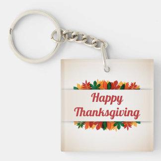 Kleurrijke Gelukkige Thanksgiving | van Bladeren Sleutelhanger