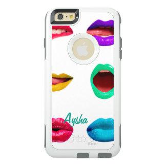 Kleurrijke gepersonaliseerde lippen OtterBox iPhone 6/6s plus hoesje