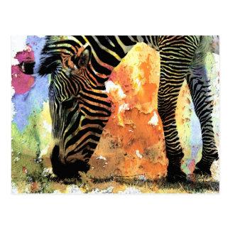 Kleurrijke Gestreepte Grunge Briefkaart
