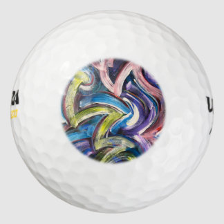 Kleurrijke Gewaagde Hand Geschilderde Golfballen