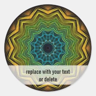 Kleurrijke goed Caleidoscoop Ronde Sticker