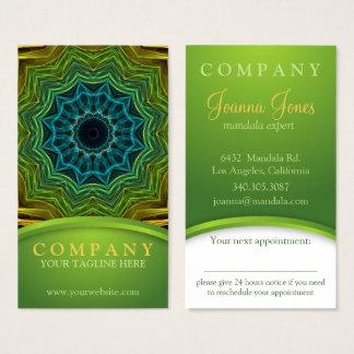 Kleurrijke goed Mandala benoemingskaart Visitekaartjes