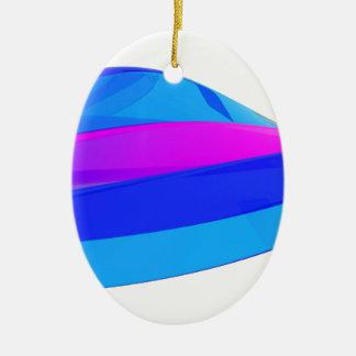 Kleurrijke golf keramisch ovaal ornament