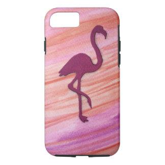 Kleurrijke grote roze die kraan door het strand iPhone 8/7 hoesje