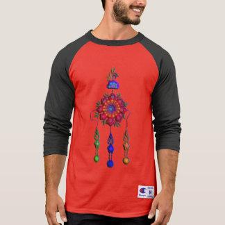 kleurrijke hangende bloemen t shirt