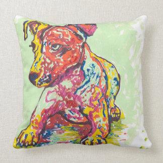 Kleurrijke Hefboom Russell Terrier Kussen