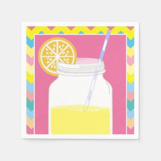 Kleurrijke Heldere Limonade | van de Zomer de Wegwerp Servetten