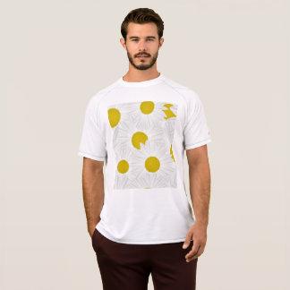 Kleurrijke het patroon paarse margriet van de t shirt