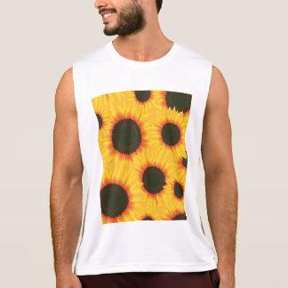 Kleurrijke het patroonzonnebloem van de lente hemd