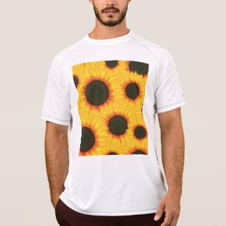 Kleurrijke het patroonzonnebloem van de lente t shirt