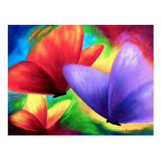 Kleurrijke het Schilderen van de Vlinder Briefkaar briefkaarten