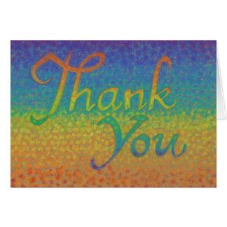 """Kleurrijke Impressionistic """"dankt u"""" kaardt Kaart"""