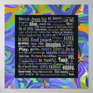 Kleurrijke inspiratie poster