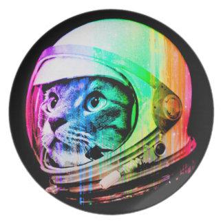 kleurrijke katten - de astronaut van de Kat - Bord