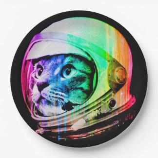kleurrijke katten - de astronaut van de Kat - Papieren Bordje