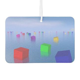 Kleurrijke kubussen die 3D drijven - geef terug Auto Luchtverfrissers