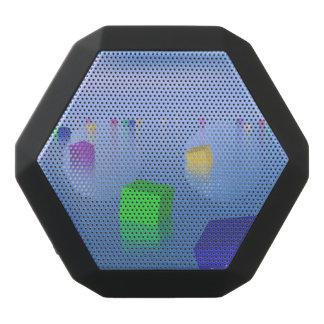 Kleurrijke kubussen die 3D drijven - geef terug Zwarte Bluetooth Speaker