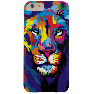 Kleurrijke leeuw barely there iPhone 6 plus hoesje