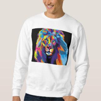 Kleurrijke leeuw trui