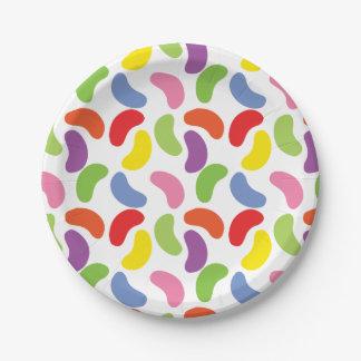 Kleurrijke Leuk van het Patroon van de Bonen van Papieren Bordje