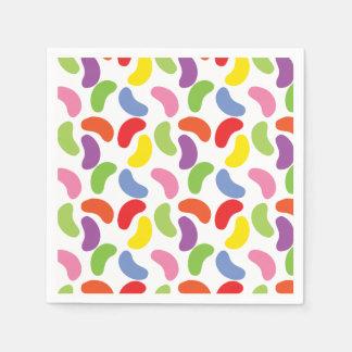 Kleurrijke Leuk van het Patroon van de Bonen van Papieren Servetten