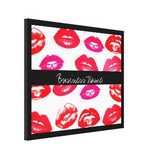 Kleurrijke Lippen met Lippenstift met Handelsnaam Canvas Print