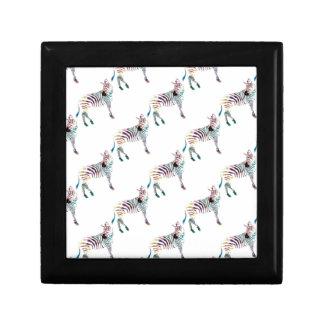 Kleurrijke M. Zebra Decoratiedoosje