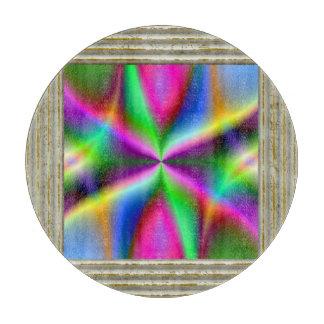 Kleurrijke MetaalFractal Glans Snijplank