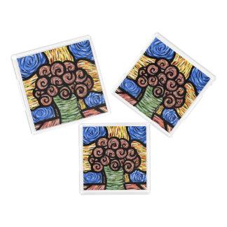 Kleurrijke Moderne Abstracte Bloemen Acryl Dienblad