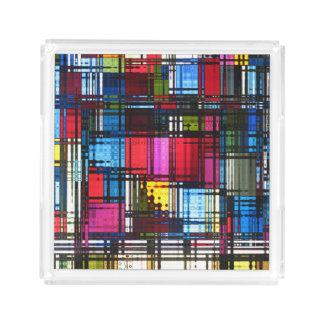 Kleurrijke Moderne Samenvatting Acryl Dienblad
