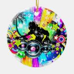Kleurrijke Muziek DJ Kerstboom Ornamenten