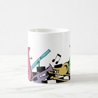 Kleurrijke Muzikale Instrumenten Koffiemok