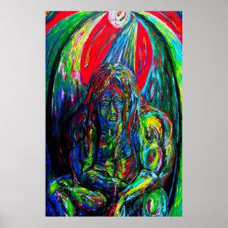 Kleurrijke Olieverf van het Schepsel van het Sci Poster