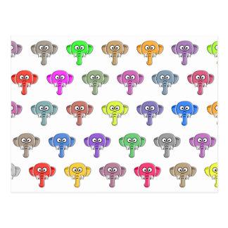 Kleurrijke Olifanten Briefkaart
