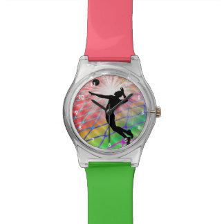 Kleurrijke Ontploffing in Volleyball Horloge