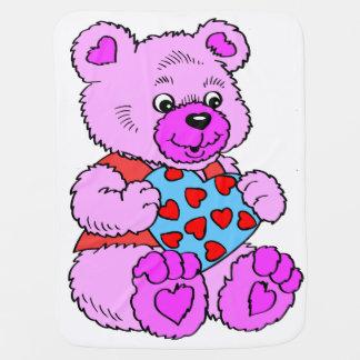 Kleurrijke Paarse Teddybeer Inbakerdoek
