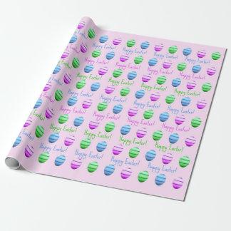 Kleurrijke Paaseieren Gelukkige Pasen Inpakpapier
