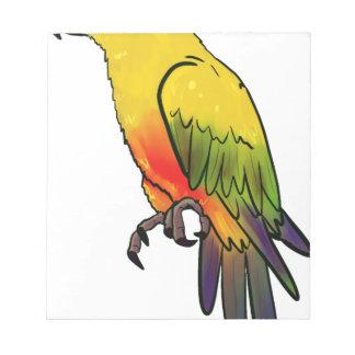 Kleurrijke Papegaai Notitieblok