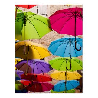 Kleurrijke Paraplu's Briefkaart