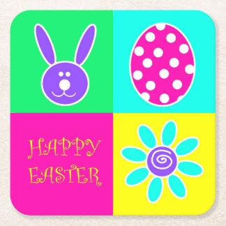 Kleurrijke Pasen Vierkante Onderzetter