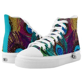Kleurrijke Pauw High Top Schoenen